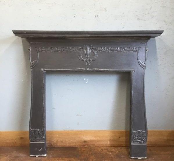 Cast Iron Art Nouveau Fire Surround