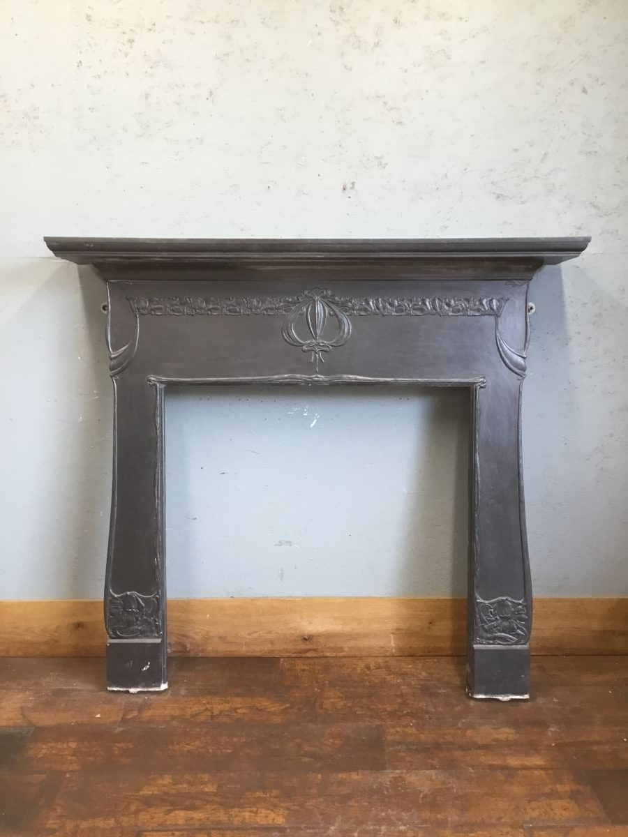 Cast Iron Art Nouveau Fire Surround