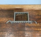 Cast Iron Curved Finial Fire Basket