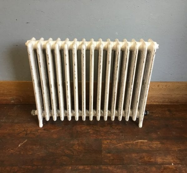 White Painted 4 Bar Reclaimed Radiator