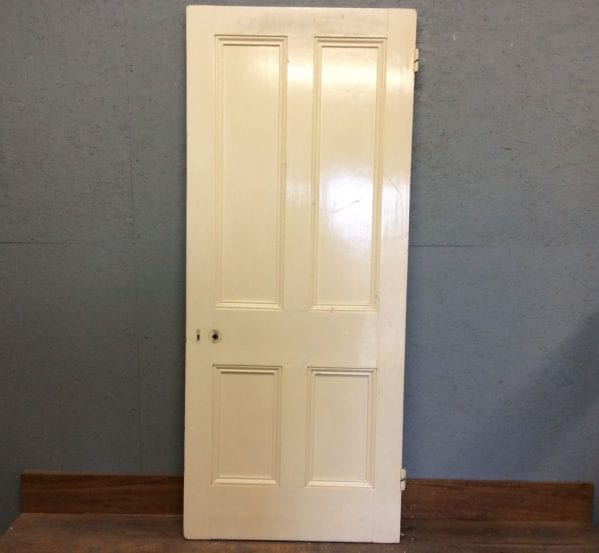 Large Posh White 4 Panelled Door