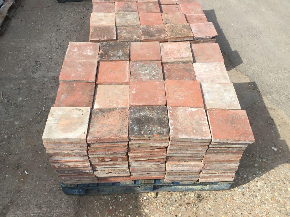 "Square 9"" English Floor Tiles"
