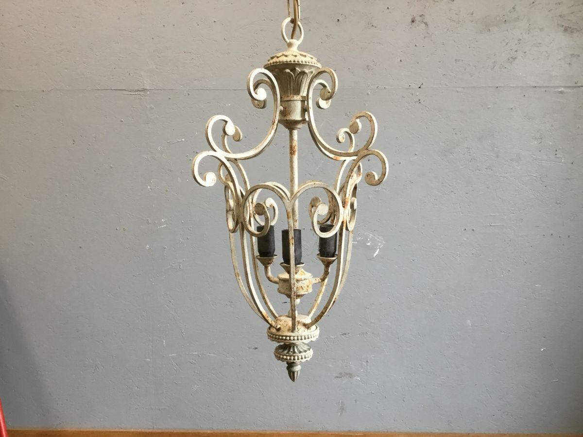 Metal Ornate Frame Hanging Lantern