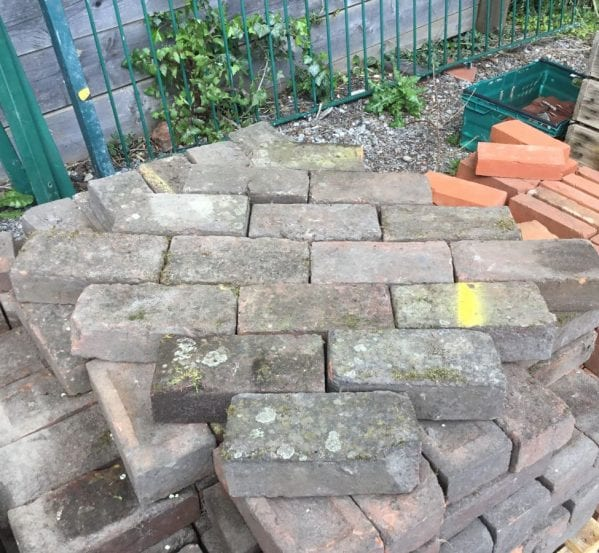 Reclaimed Thick Dark Paving Bricks