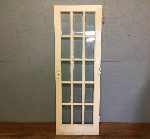 Reclaimed Fully Glazed White Painted Door