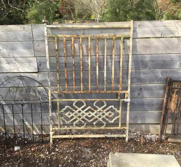White Decorative Panel Single Gate