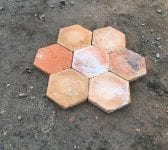 "6 1/2"" Orange Terracotta French Floor Tiles"