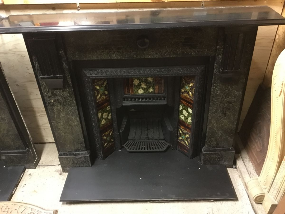 Reclaimed Marbled Slate Fire Surround