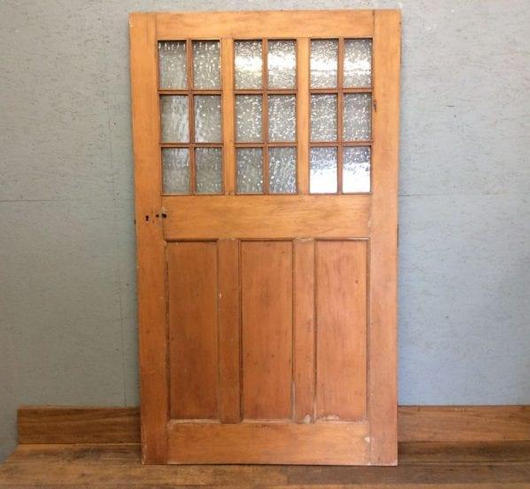 Wide Pine Half Glazed External Door