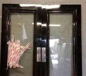 Broken Black Beauty Double Doors