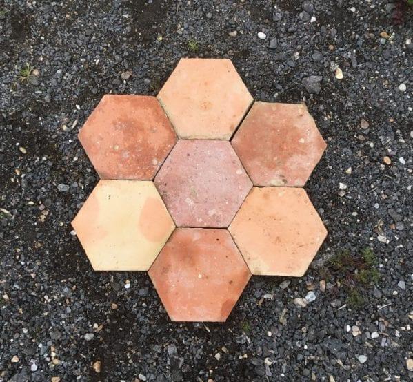 """8 1/2"""" French Terracotta Floor Tiles"""