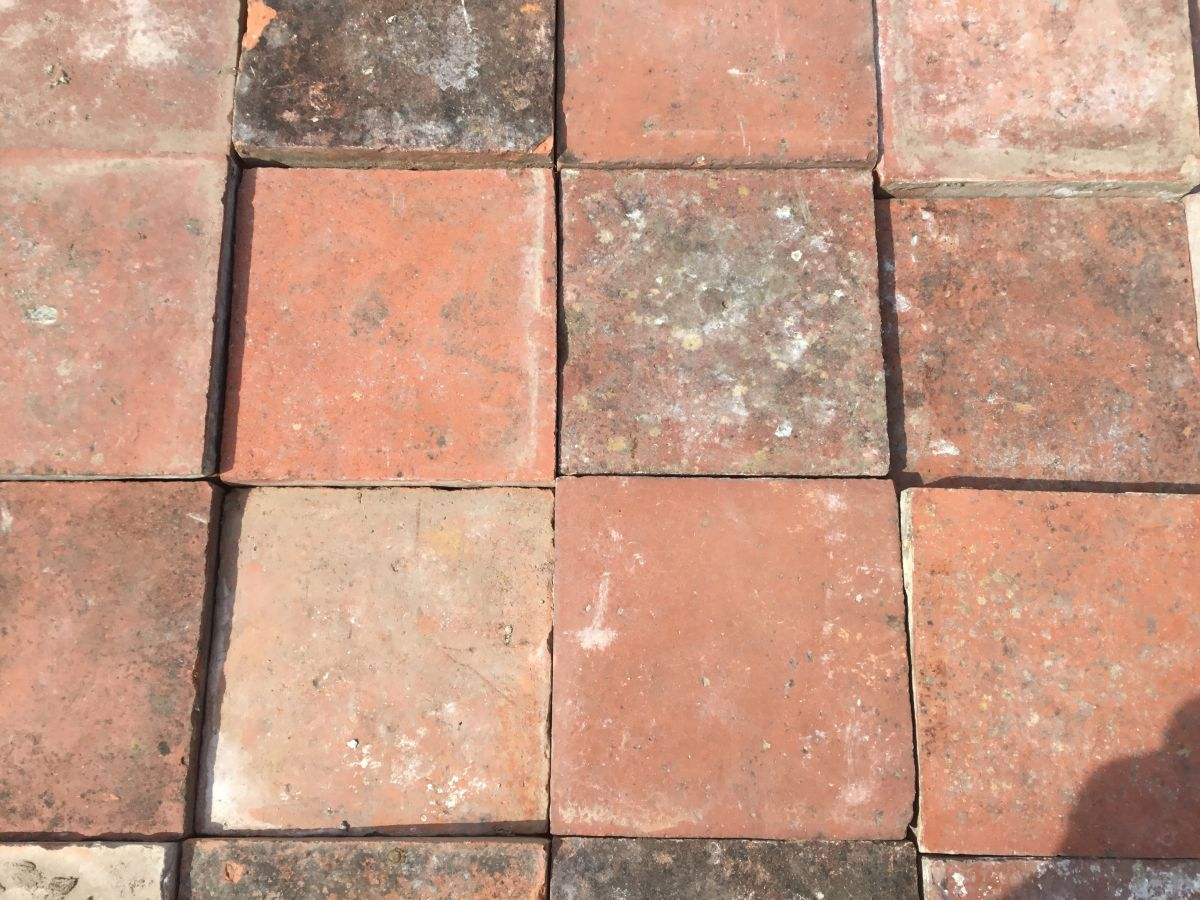 """Square 9"""" French Floor Tiles"""