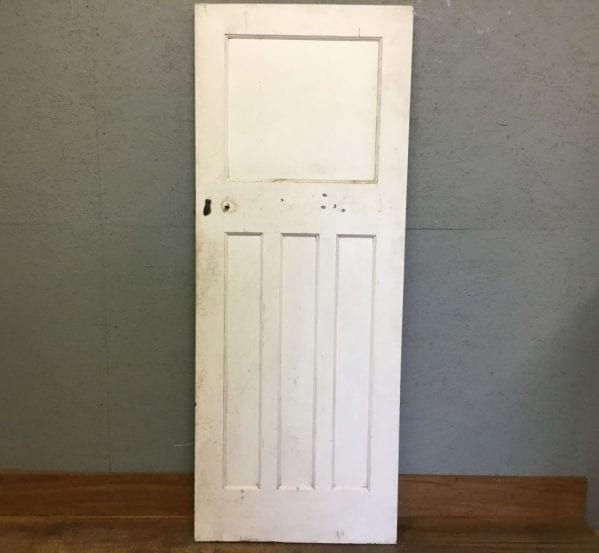 White 1 Over 3 Panelled Door