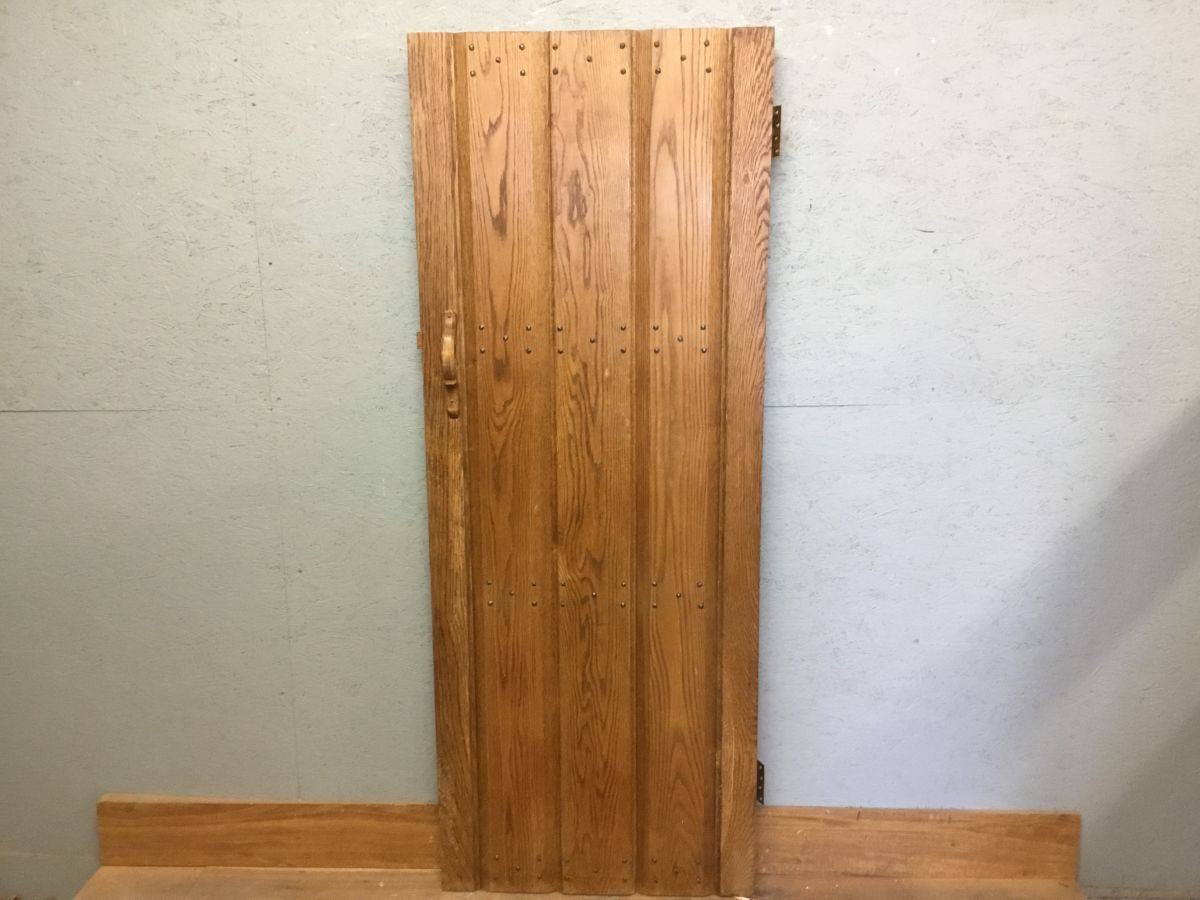 Reclaimed Oak Ledge & Brace Door