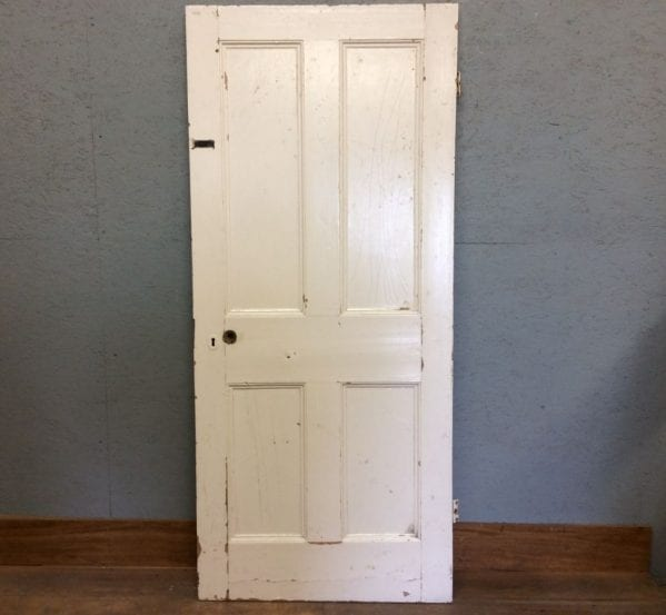 Fully Beaded Nice White 4 Panelled Door