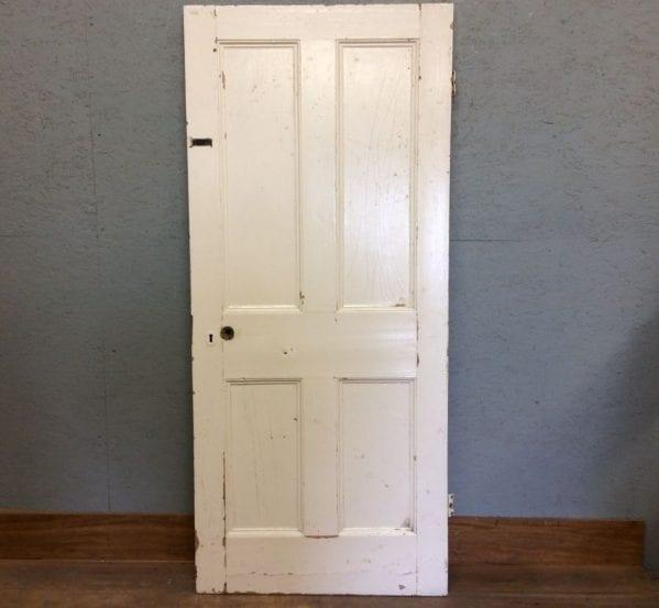 Fully Beaded Nice White 4 Panelled Door