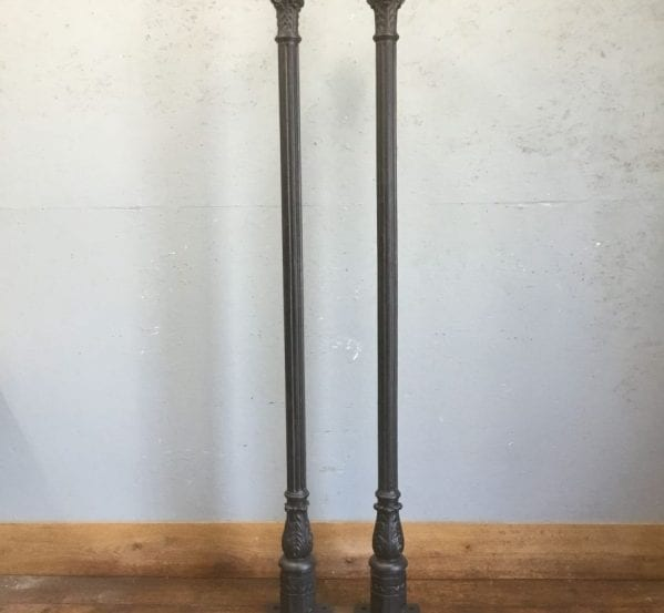 Cast Iron Post Pair