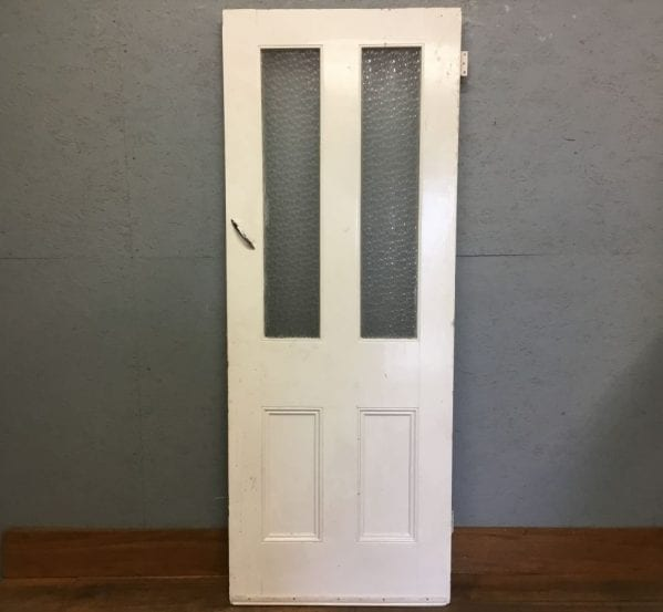 Half Glazed Frosted White Door