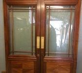 Cream Oak Glazed Double Doors