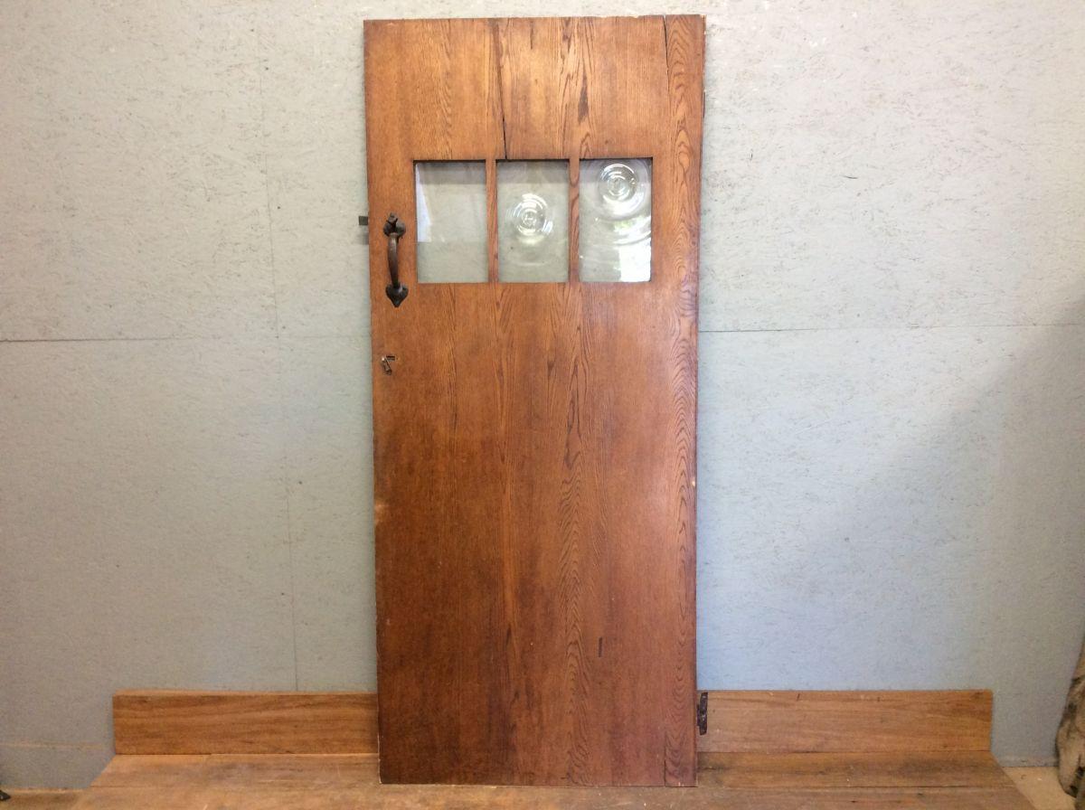 Part Glazed Oak L&B Door