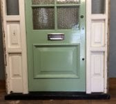 Big Mint Door In Large Frame