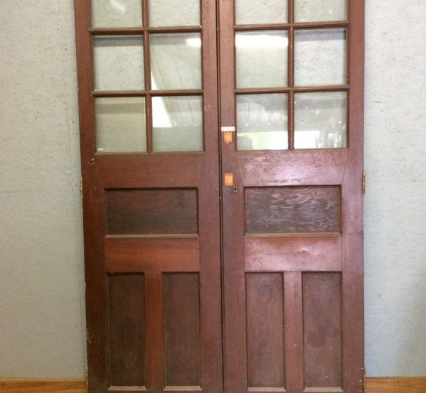Tall Half Glazed Double Doors