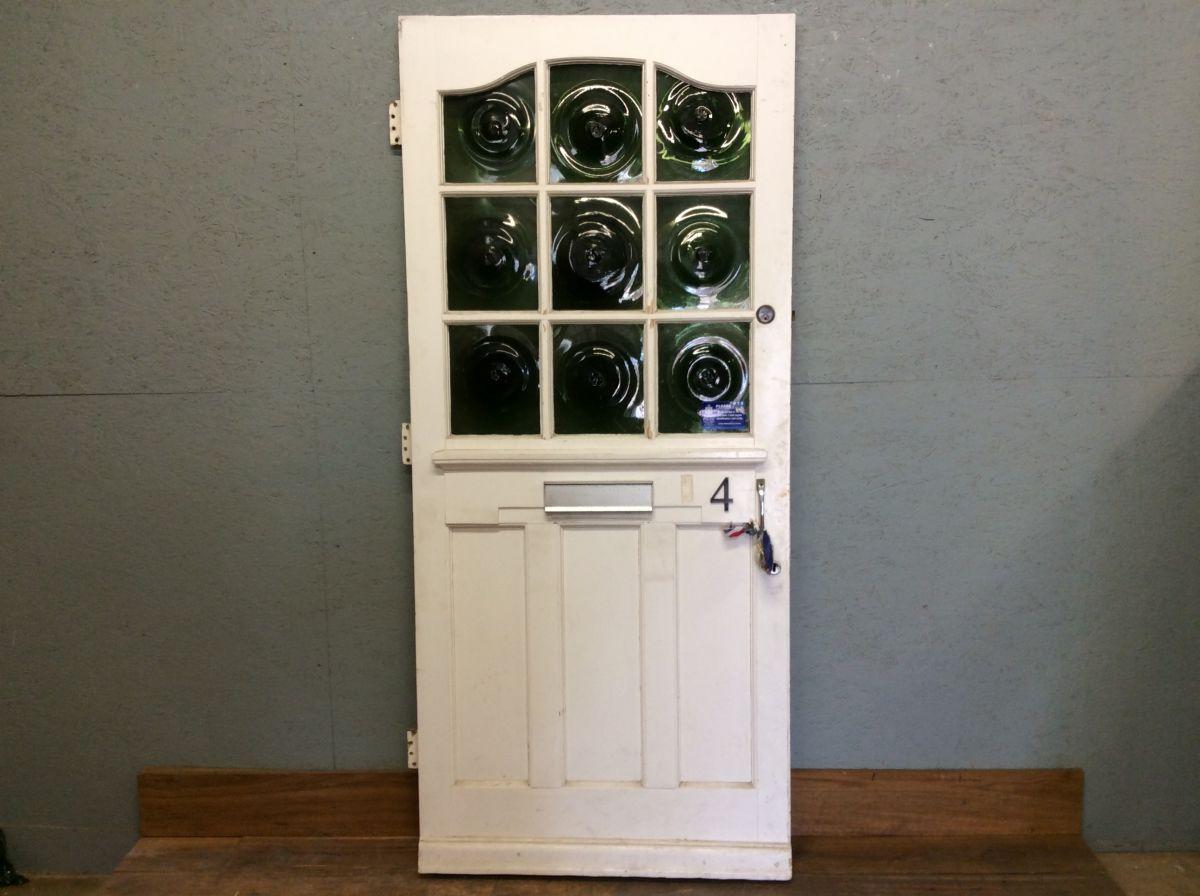 Green Swirl Glazed Front Door (Perfect Pair)