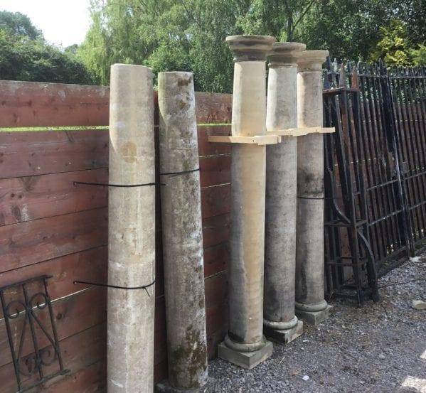 Recaimed Stone Pillars