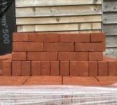 Modern Red Wire Cut Bricks
