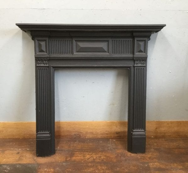 Panelled Cast Iron Fire Surround