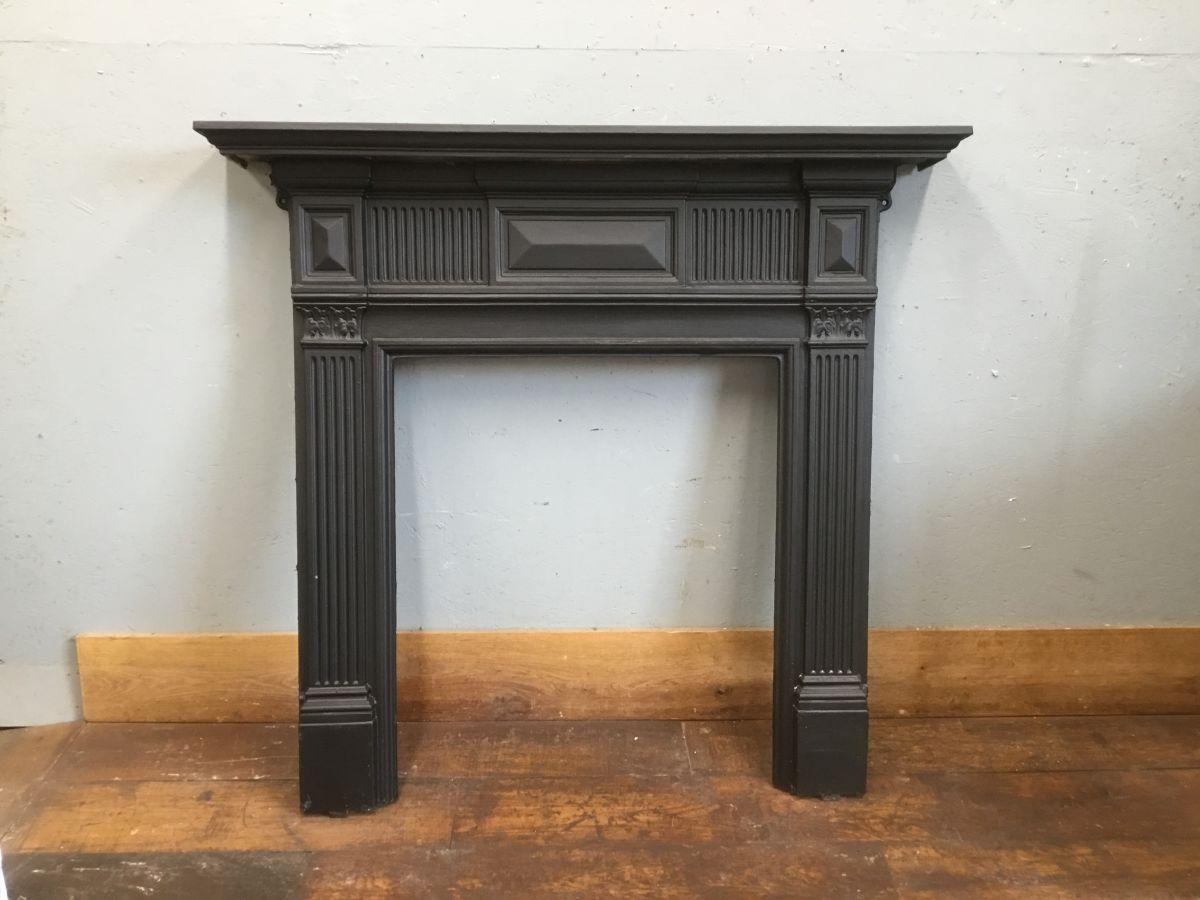 Panelled Cast Iron Fire Surround