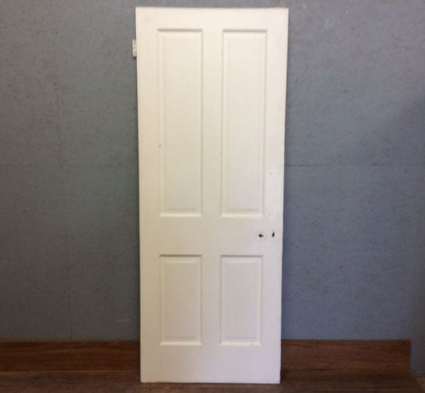 4 Panel White Painted Door