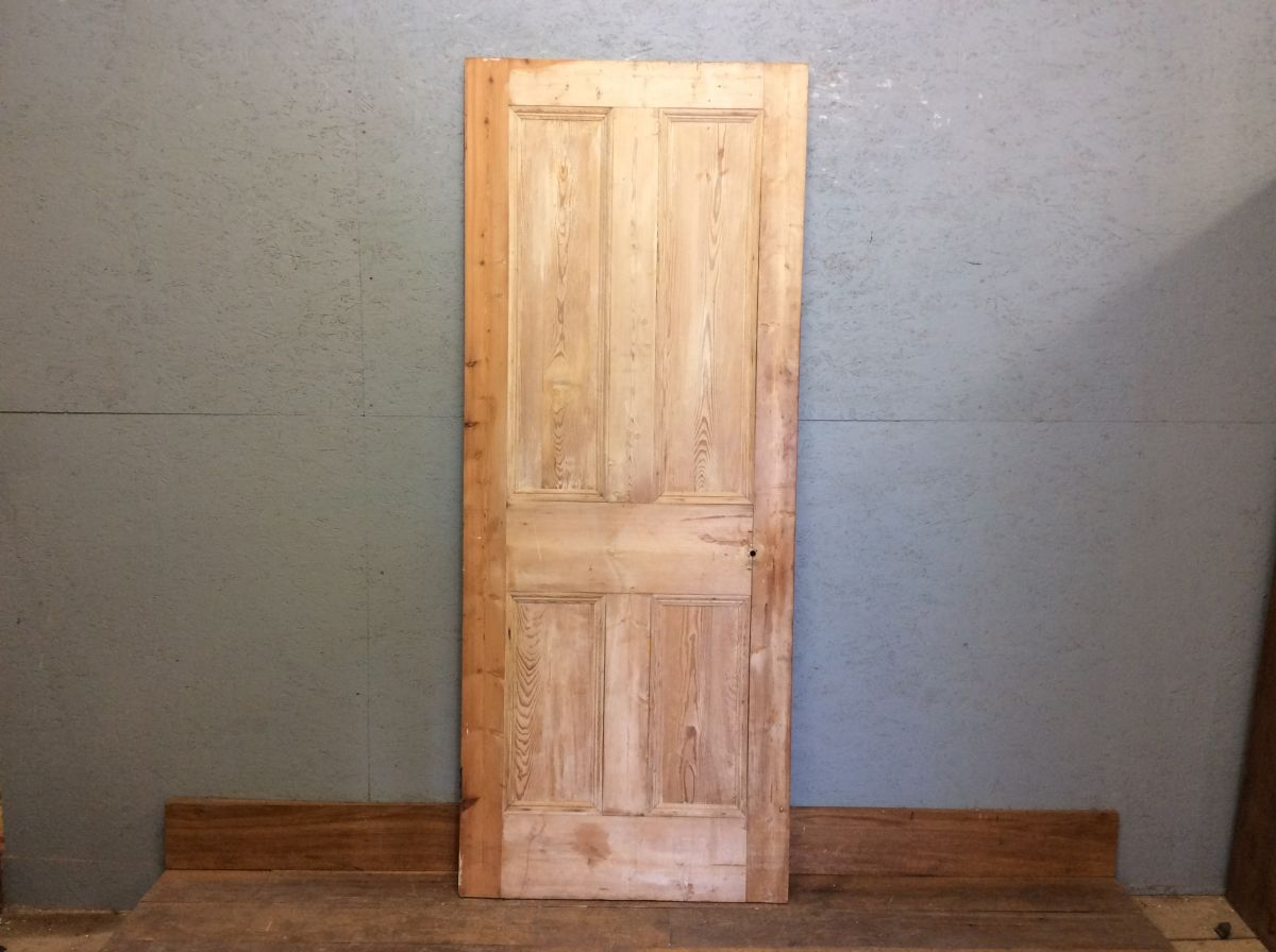 Nice Old Stripped 4 Panelled Door