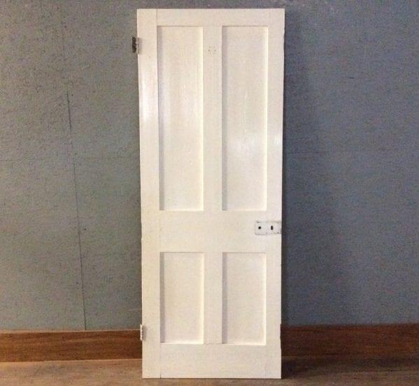 White & Stripped 4 Panel Door