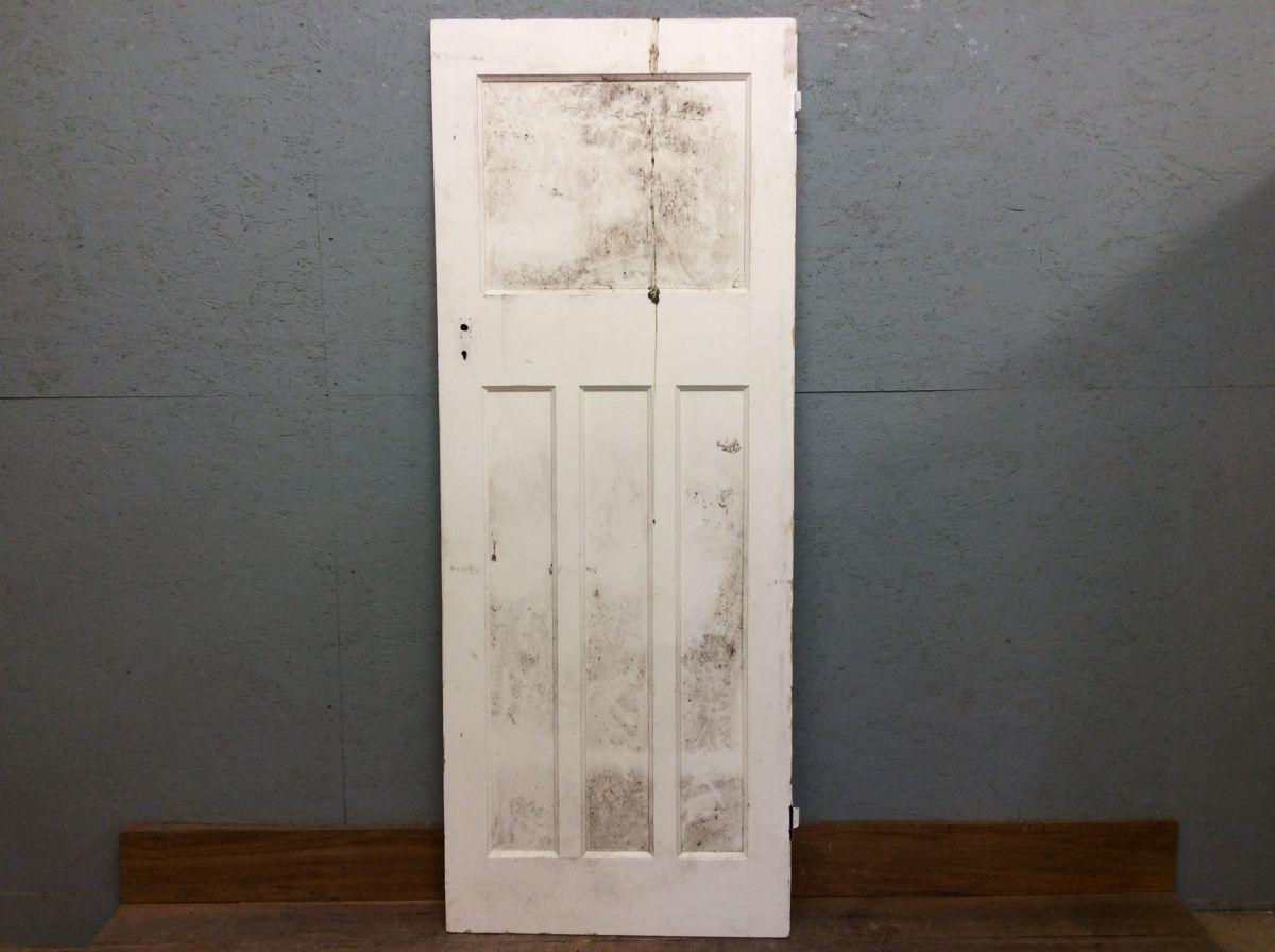 White 1 Over 3, 4 Panelled Door