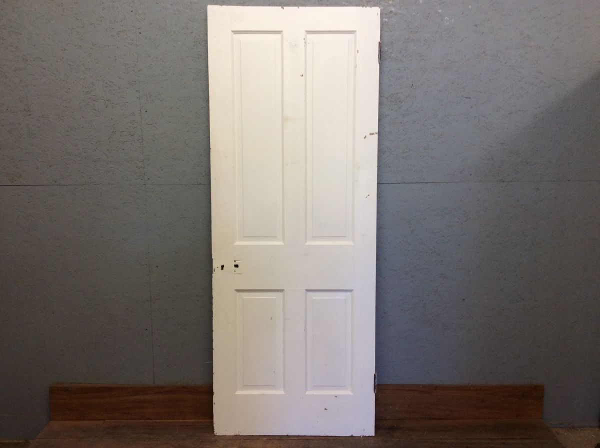 Thin White 4 Panelled Door