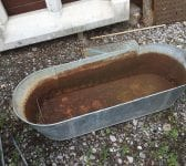 Galvanised Long Bath Trough