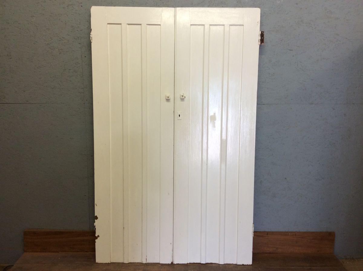 Nice White 3 Panelled Cupboard Doors