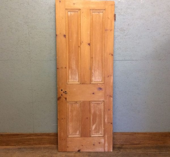 Small Dark 4 Panelled Door