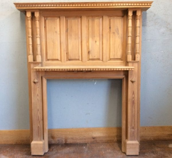 Decorative Pine Fire Surround/Over Mantle