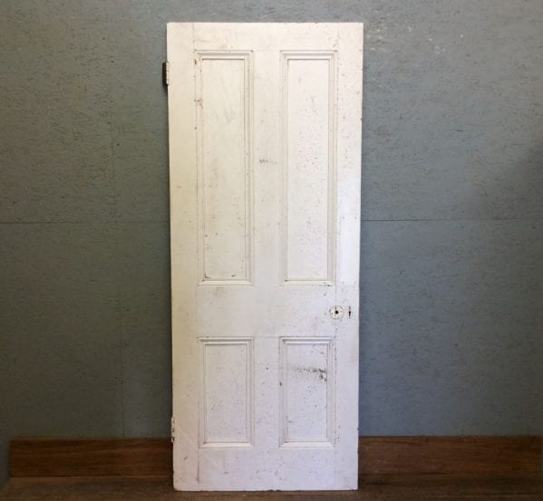 Fully Beaded White Four Panelled Door