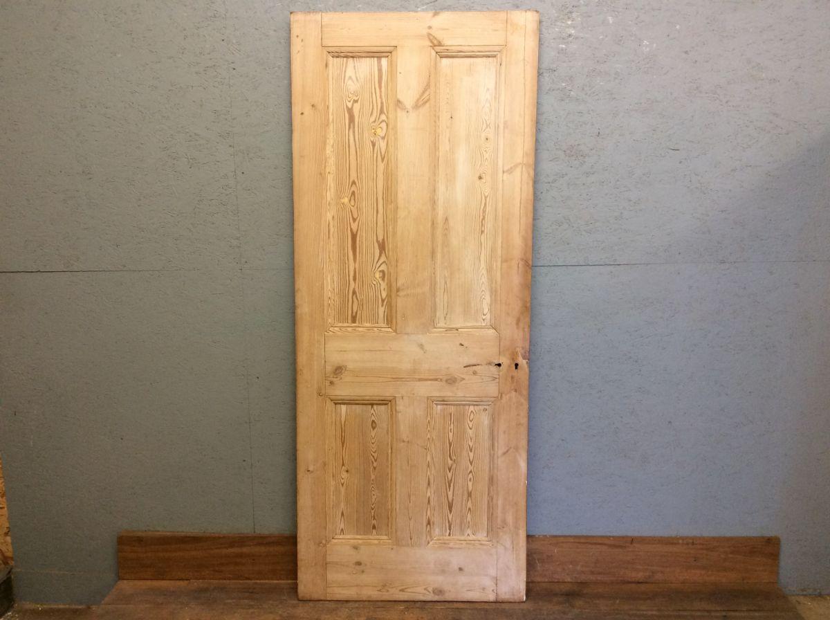 4 Panel Stripped Pine Door