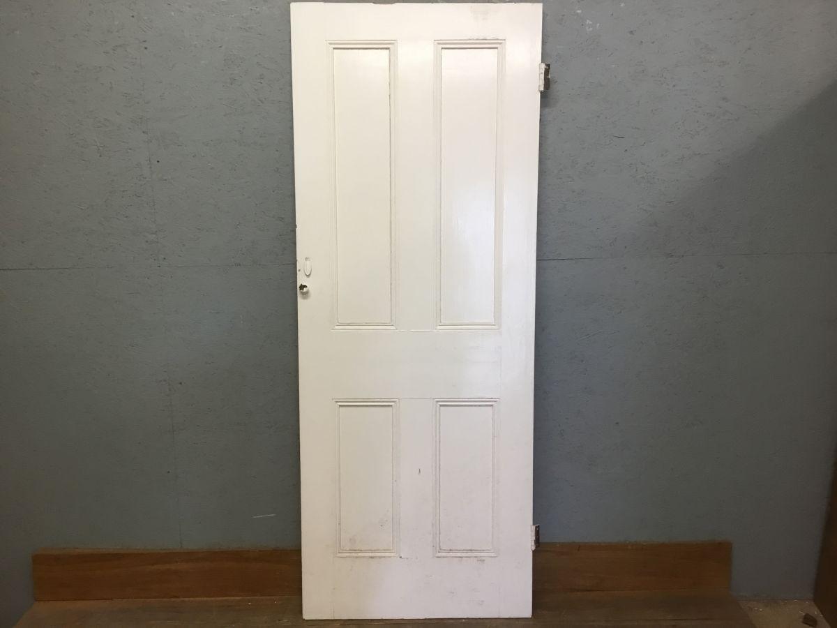 White Four Pan Door