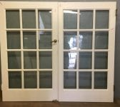 Very Nice Large White Double Glazed French Doors