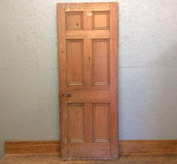Dark Stripped 6 Panelled Door