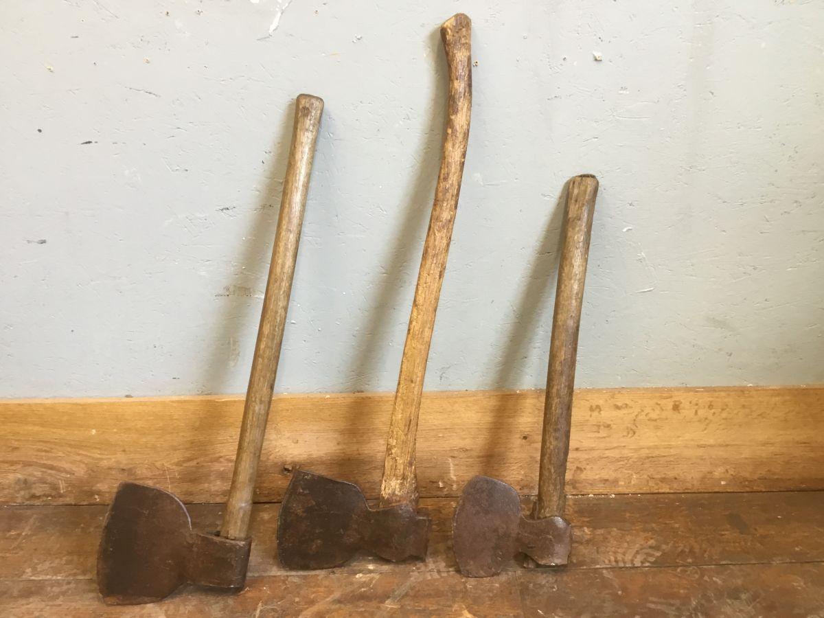 Wooden Handled Axes
