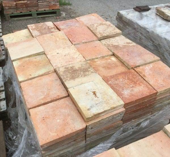"Orange Terracotta 8 1/4"" Square Tile"