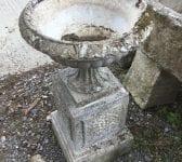 Stone Planter On Plinth