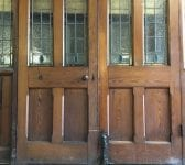 Grande Chapel Pitch Pine Stained Glass Double Doors