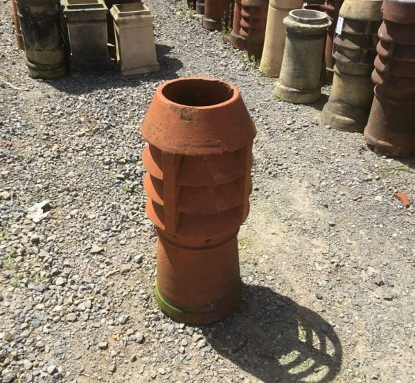 XL Louvred Terracotta Chimney Pot